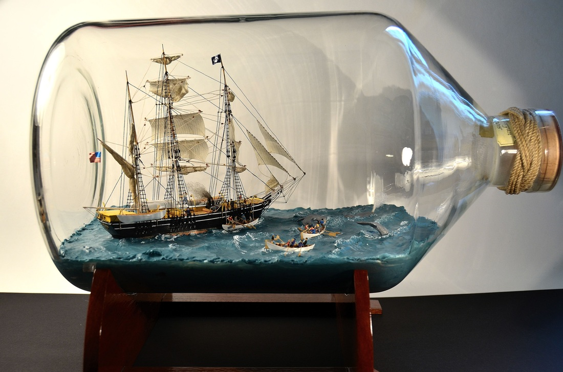 Charles W. Morgan Ship in Bottle